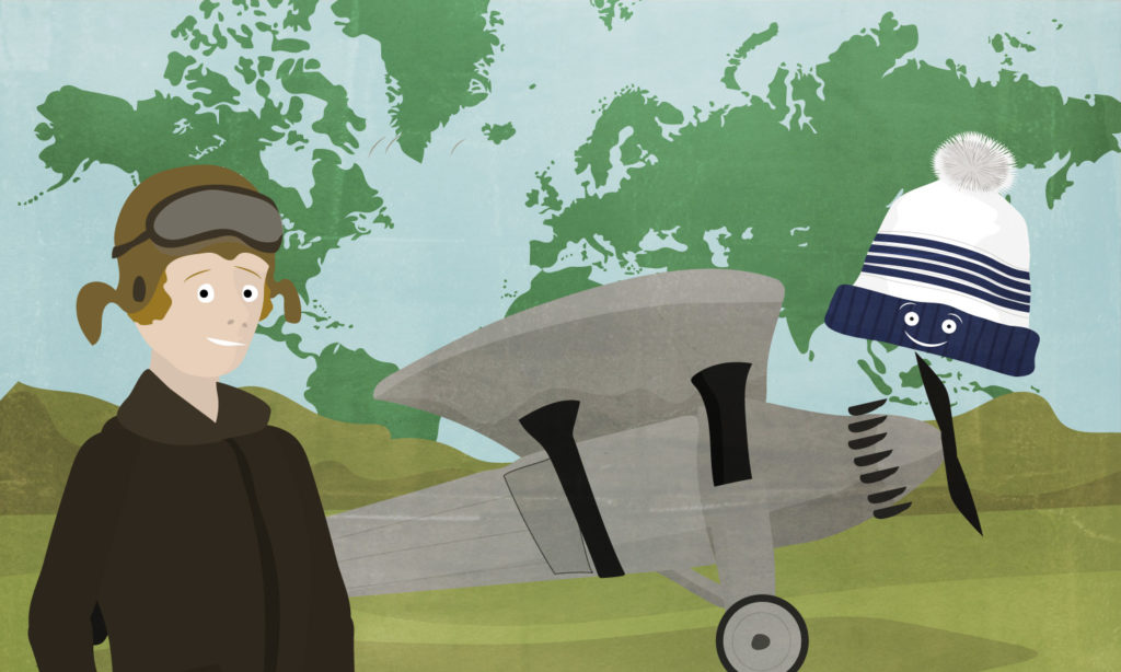 Amelia-earhart, aviatrice célèbre, pour les enfants