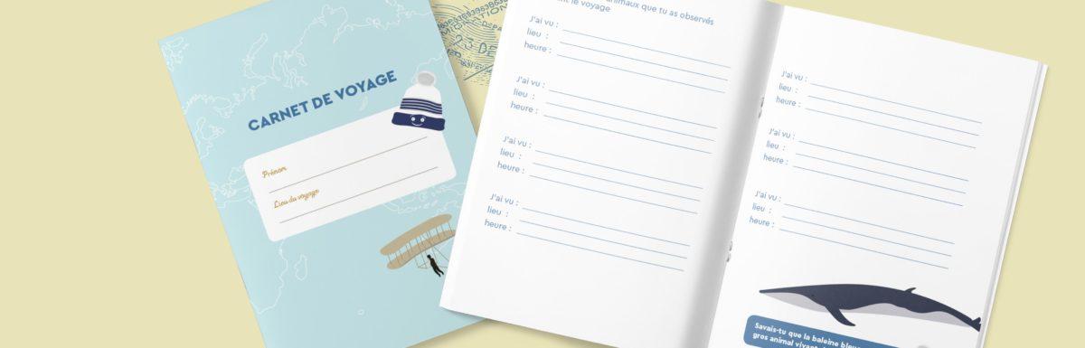 Un carnet de voyage pour enfant à télécharger